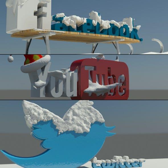 Social Media winter Logos