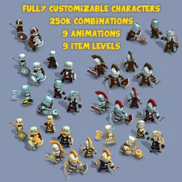 11k Animated Fantasy Heroes