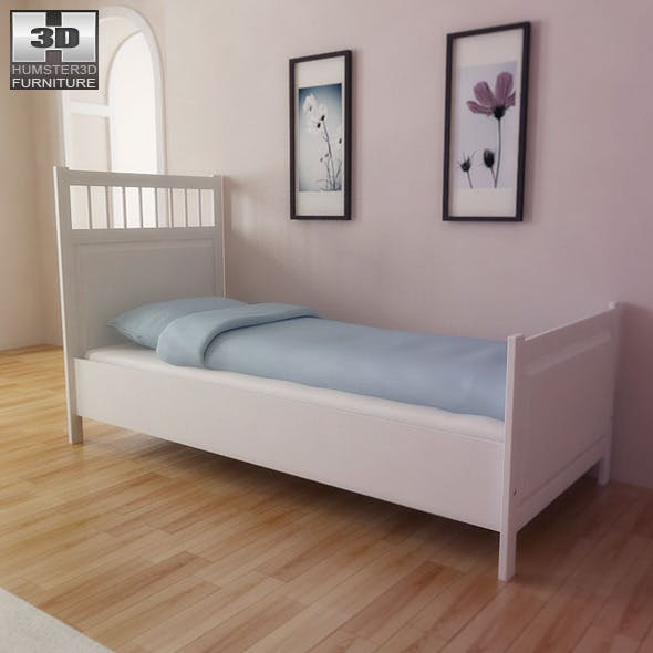 IKEA HEMNES Bed - 3D Model.  - 3DOcean Item for Sale