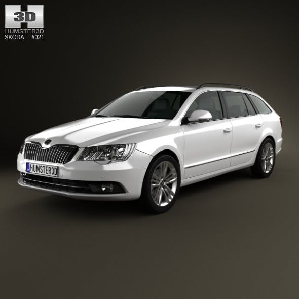 Skoda Superb Combi 2014 - 3DOcean Item for Sale