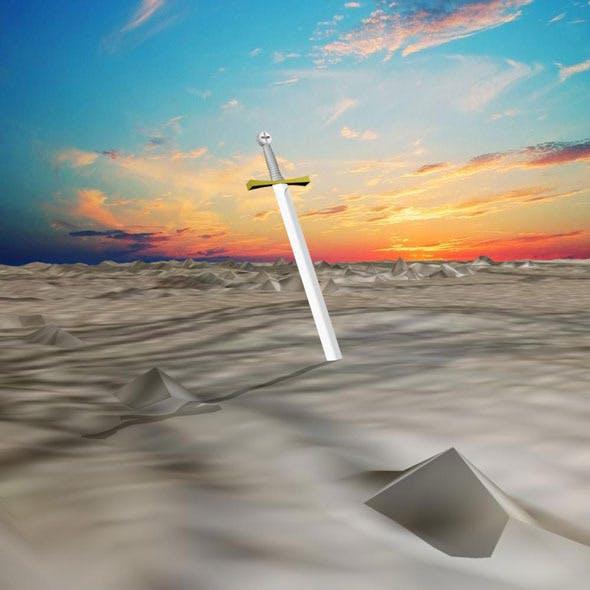 Cross sword - 3DOcean Item for Sale