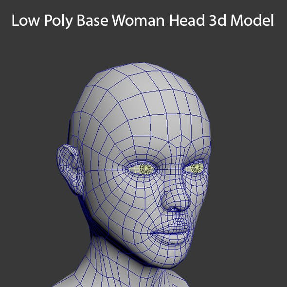 Low Poly Base Woman Head