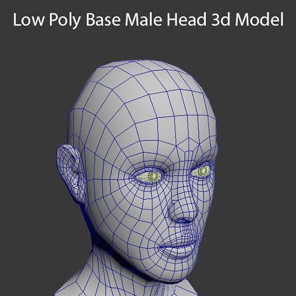 Low Poly Base Male Head