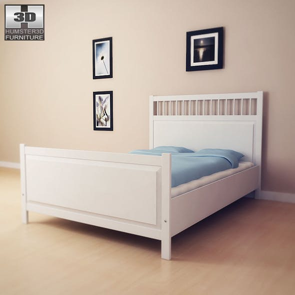 IKEA HEMNES Bed 2 - 3D Model.  - 3DOcean Item for Sale