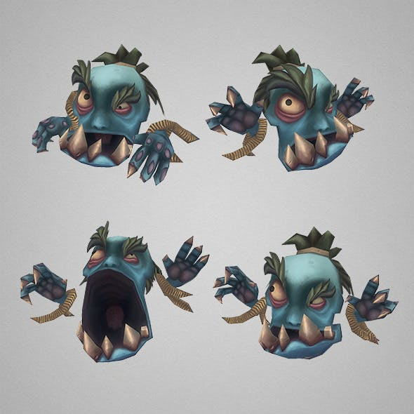 Low Poly Micro Ghoul Gobrot