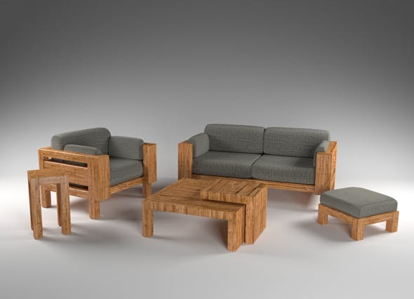 Caminetto rest room furnitures - 3DOcean Item for Sale