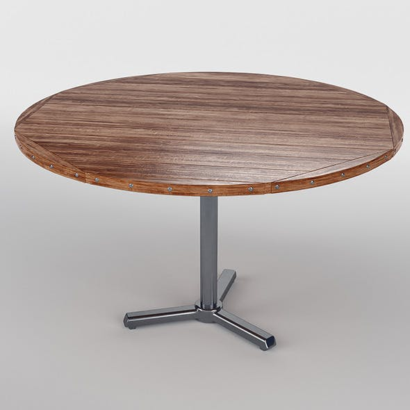 Round Rough Wood Table
