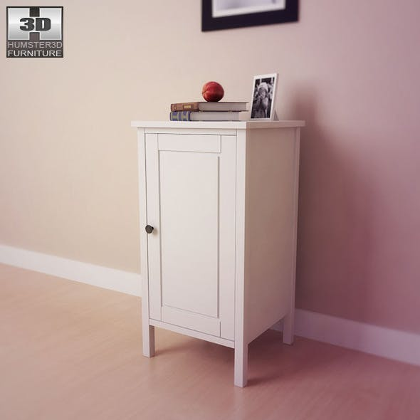 IKEA HEMNES Bedside table 2 - 3D Model.  - 3DOcean Item for Sale