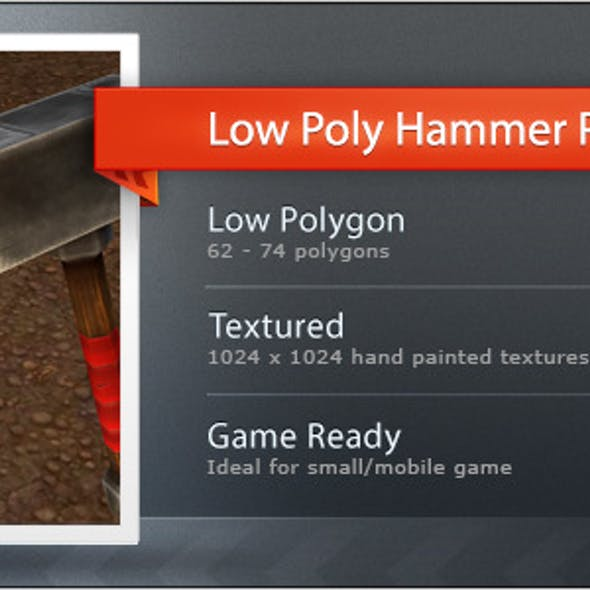 Low poly Hammer pack L1