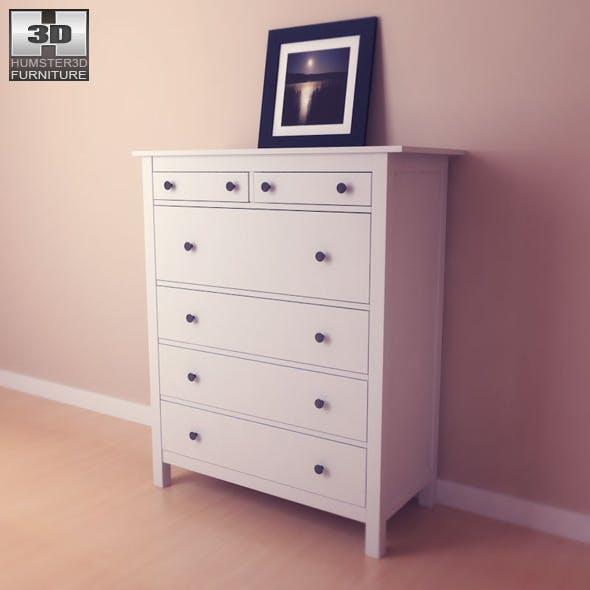 IKEA HEMNES Chest of 6 drawers - 3D Model.  - 3DOcean Item for Sale