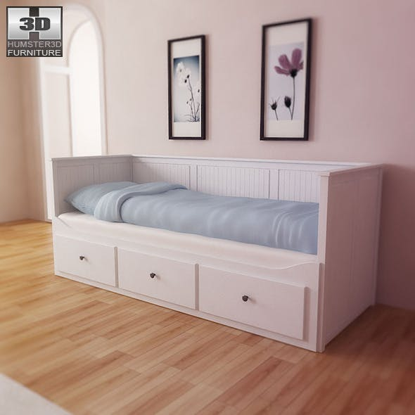 IKEA HEMNES Day-bed - 3D Model.  - 3DOcean Item for Sale