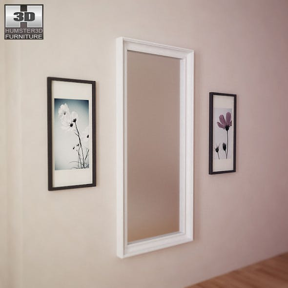 IKEA HEMNES Mirror - 3D Model. - 3DOcean Item for Sale