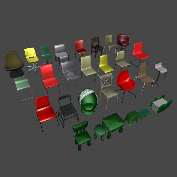 Chairs - 3DOcean Item for Sale