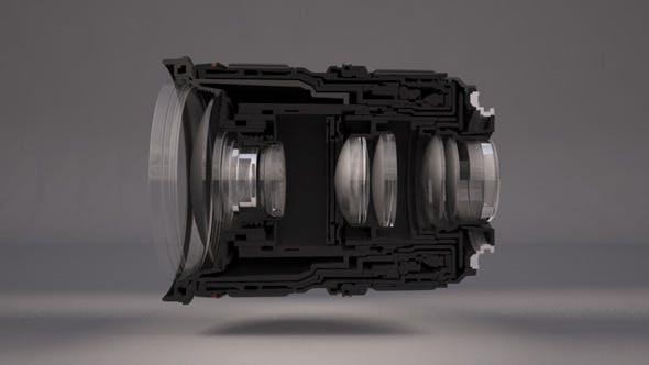 Realistic Lens For Camera - 3DOcean Item for Sale