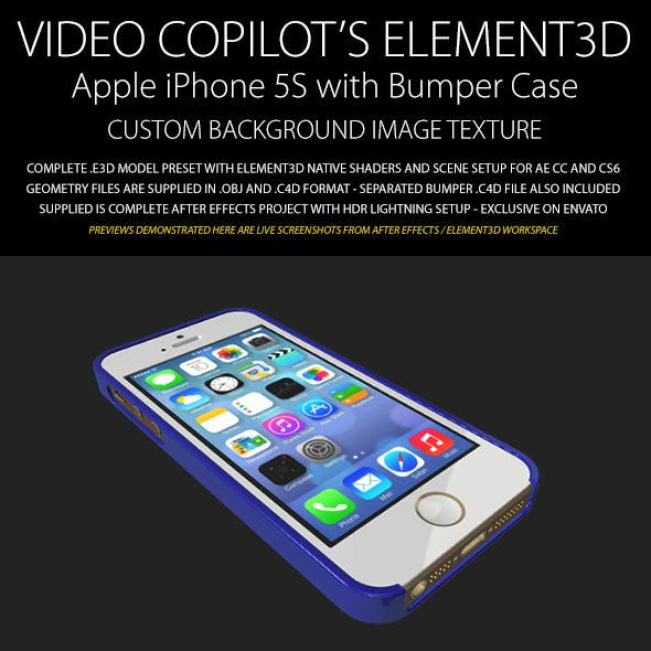 Element3D - iPhone 5S with Image Bumper Case