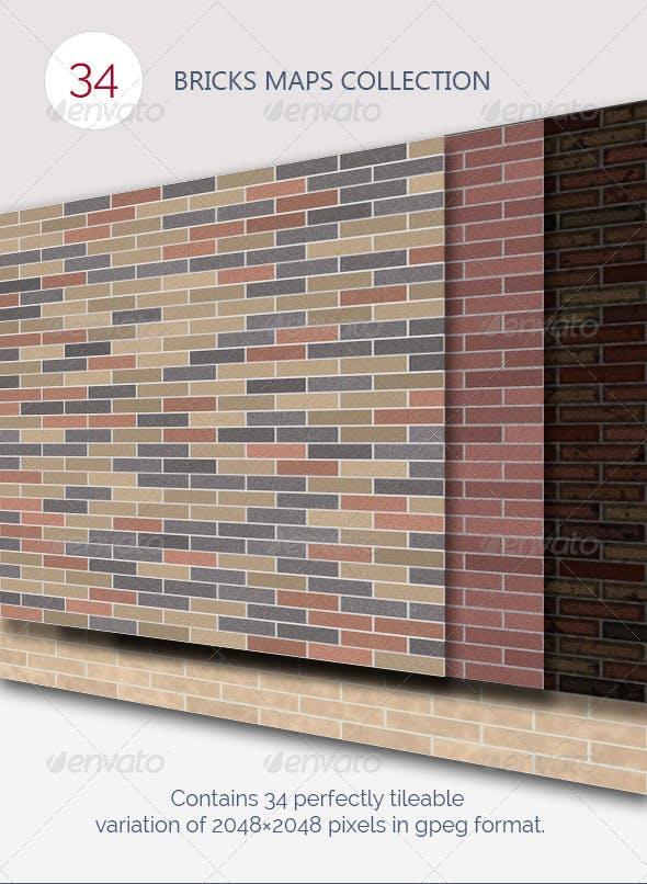 Bricks Maps - 3DOcean Item for Sale
