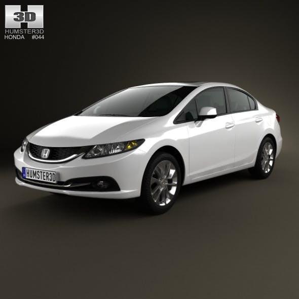 Honda Civic sedan 2013 - 3DOcean Item for Sale