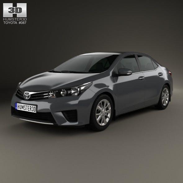 Toyota Corolla sedan 2014 - 3DOcean Item for Sale