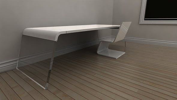 Arch Desk & Seat Concept - 3DOcean Item for Sale