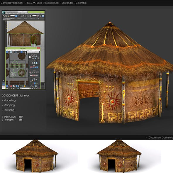 Hut_Realistic_Low_Poly