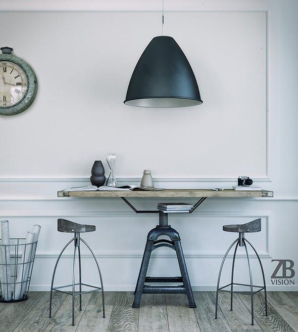 Industrial Desk - 3DOcean Item for Sale