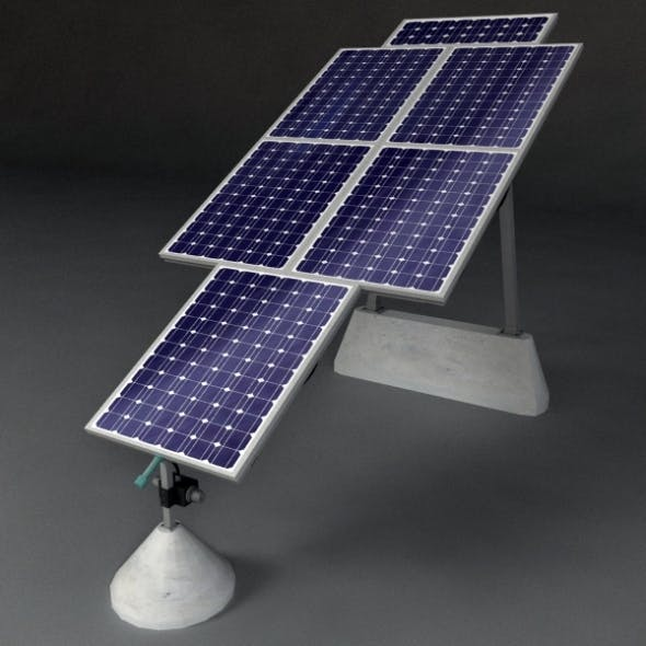 Solar Panels 2 - 3DOcean Item for Sale