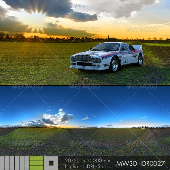 MW3DHDR0027 Sunset in the Fields - 3DOcean Item for Sale