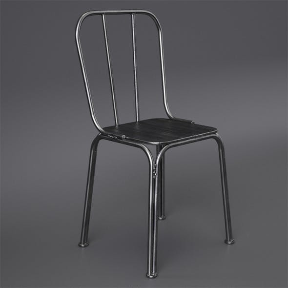 Metal chair with welds Nordal