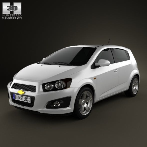 Chevrolet Aveo 5 door 2011 - 3DOcean Item for Sale