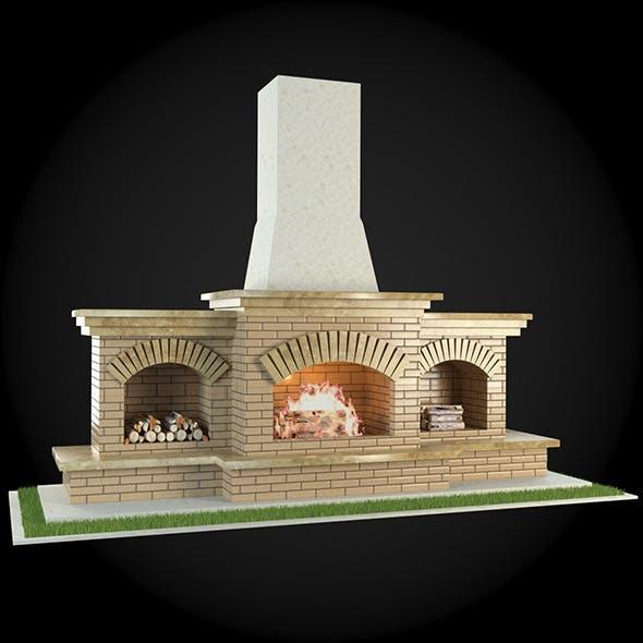 Garden Fireplace 003