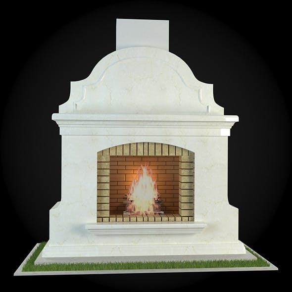 Garden Fireplace 007 - 3DOcean Item for Sale