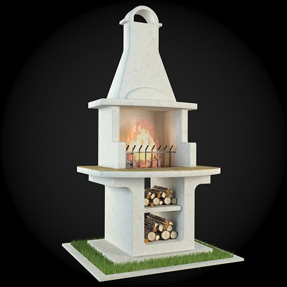 Garden Fireplace 008 - 3DOcean Item for Sale