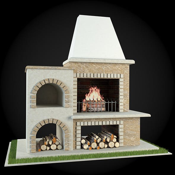 Garden Fireplace 010 - 3DOcean Item for Sale