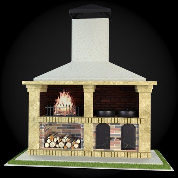 Garden Fireplace 012 - 3DOcean Item for Sale