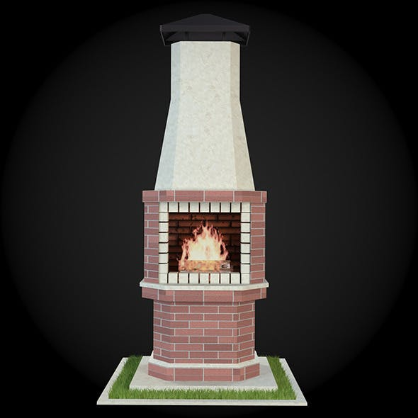 Garden Fireplace 014 - 3DOcean Item for Sale