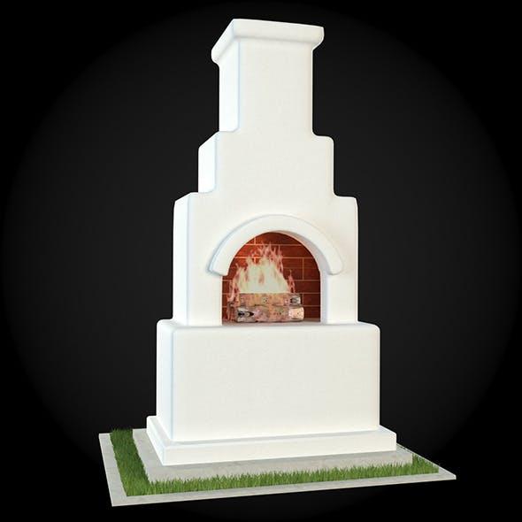 Garden Fireplace 015 - 3DOcean Item for Sale