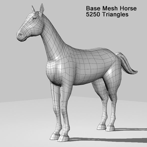 Base Mesh Horse