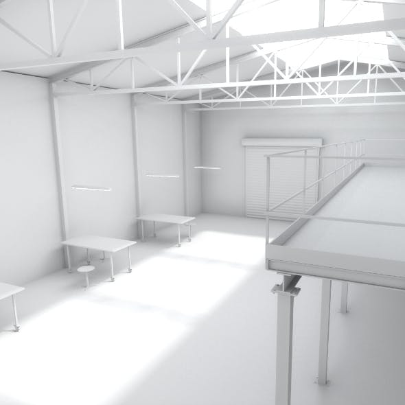 Interior / Industrial hall - 3DOcean Item for Sale