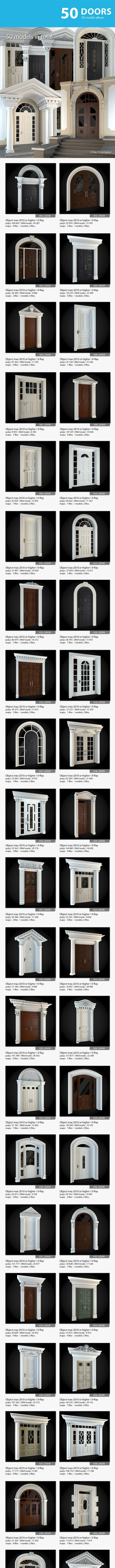 Doors Collection - 3DOcean Item for Sale