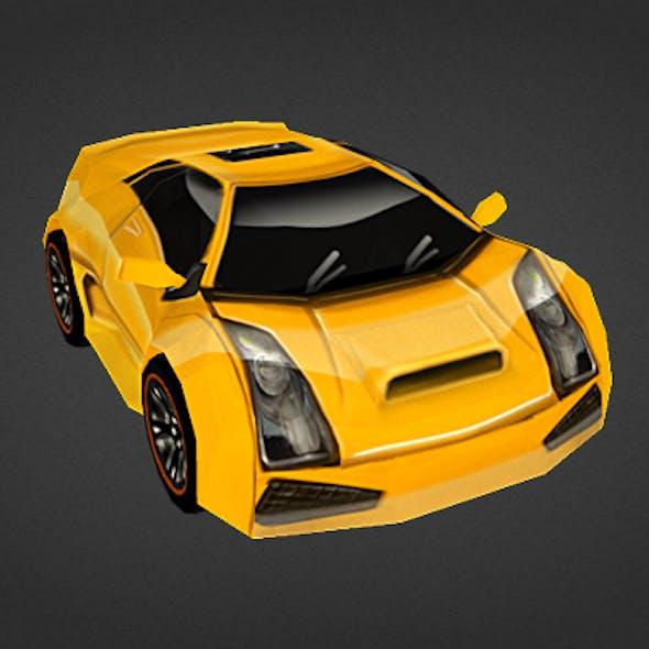 Yellow speed car