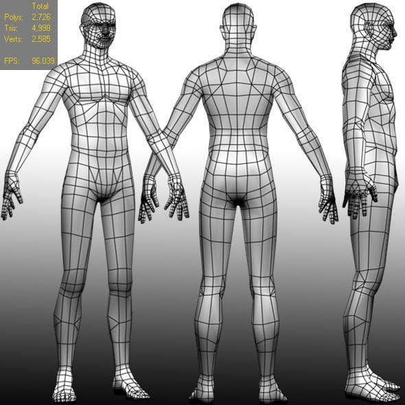 Low polygon Base mesh (Male)