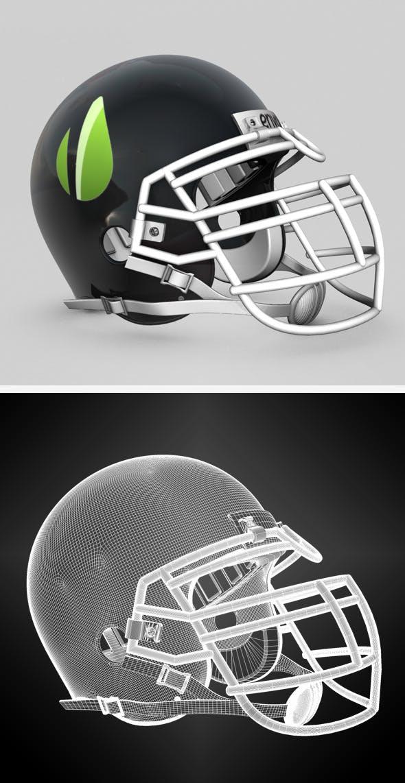 Generic NFL Football Helmet - 3DOcean Item for Sale