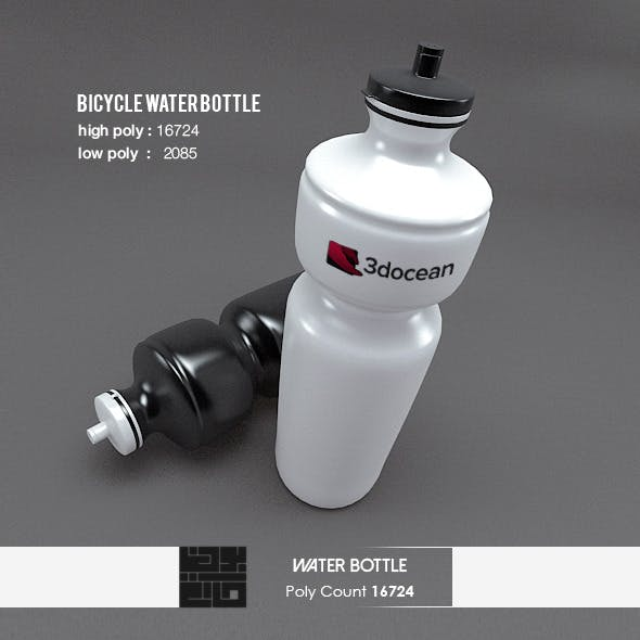 Bicycle Water Bottle 3D Realistic Model