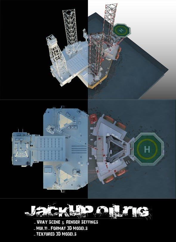 Jackup OilRig - 3DOcean Item for Sale