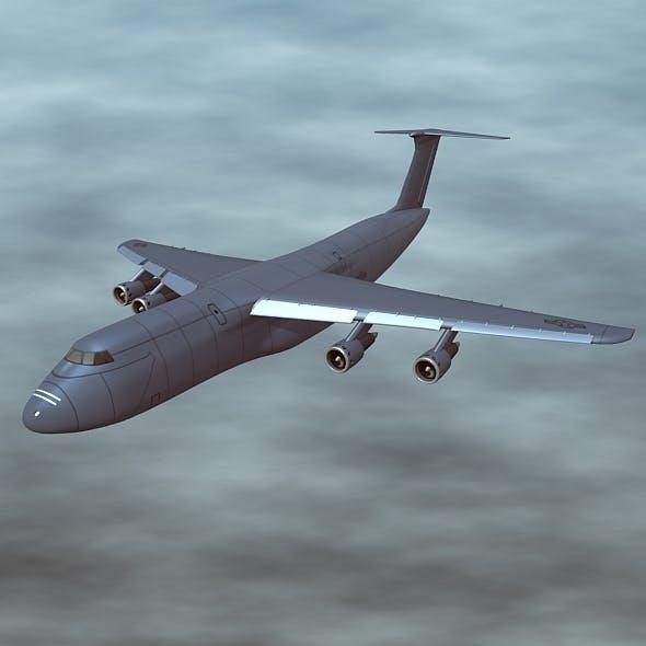 Lockheed Galaxy C 5 military transporter - 3DOcean Item for Sale