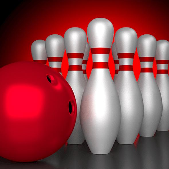 Realistic Bowling Set