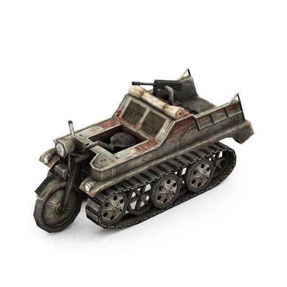 Military Modern War Motorcycle (Red) - 3DOcean Item for Sale