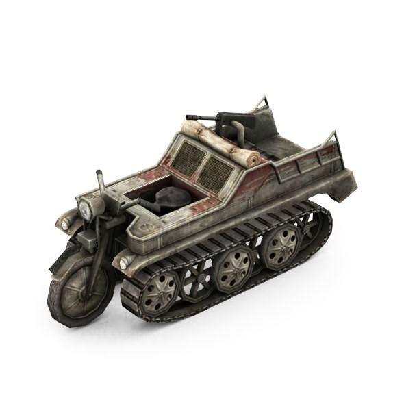 Military Modern War Motorcycle (Red) by ravegan | 3DOcean