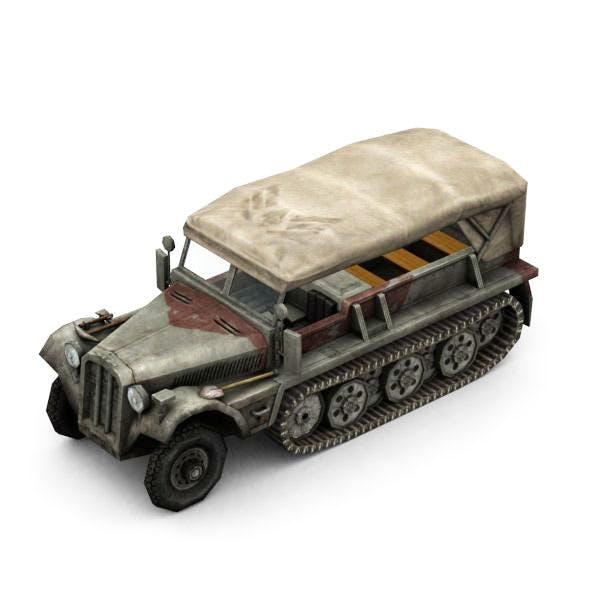 Military Modern War Transport Truck (Red)