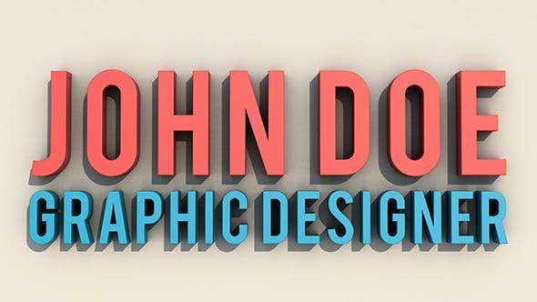 3D Text Setup - 3DOcean Item for Sale